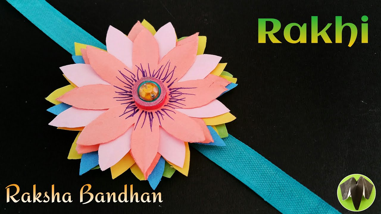 Flower Rakhi Bracelet For Raksha Bandhan Design 3 Diy Handmade