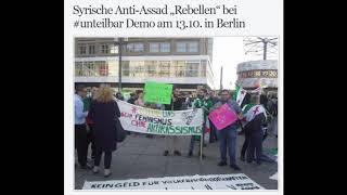 """#unteilbar Demo: Syrische Anti-Assad """"Rebellen"""" für Regimechange / Berlin 13.10."""