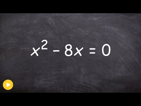 How to factor a quadratic equation when c=0 - Free Math Help - Online Tutor
