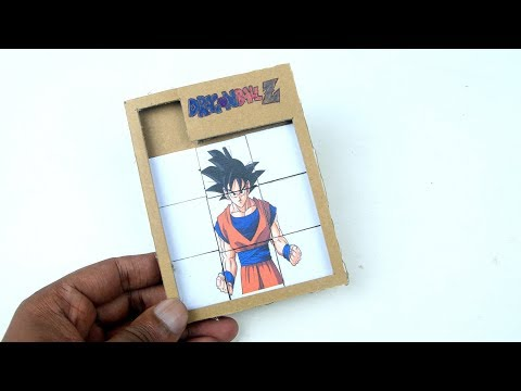 How To Make A PAPER GAME || Diy Dragon Ball Z Puzzle Game