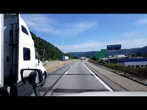 BigRigTravels LIVE! - Chesapeake to Nitro, West Virginia  Interstate 64/77 North - August 2, 2017