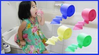 빨간휴지 줄까?파란휴지 줄까? 꿀잼 어린이 상황극 화장실 뽀로로 귀신이야기 고스트 ghost toilet Video for Kids 리틀조이