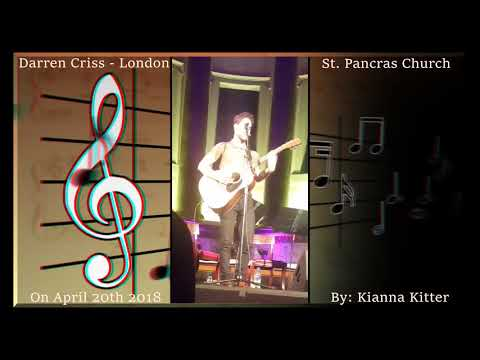 Darren Criss; London, April 20th 2018, St. Pancras Church - Concert & Cloakroom + Goodbye