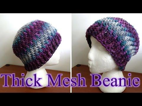 Thick Crochet Mesh Beanie - Crochet Tutorial (Baby - Adult Sizes)