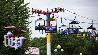 The Iowa State Fair didn't miss Trump — he was everywhere.
