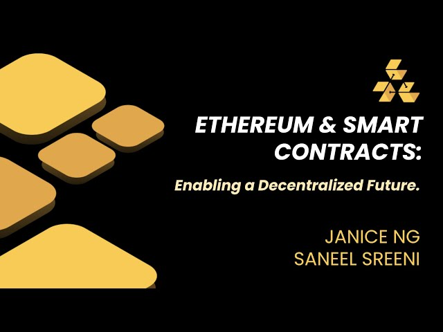 Lecture 7 - Smart Contracts & Ethereum