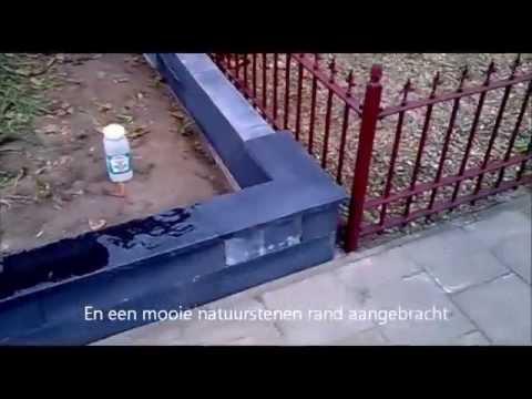Stenen Muur Voortuin : Kleine voortuin pimpen deel leeghalen en muurtje bouwen youtube