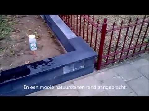 Zeer Kleine Voortuin Pimpen - Deel 1: Leeghalen en Muurtje Bouwen - YouTube @BW76