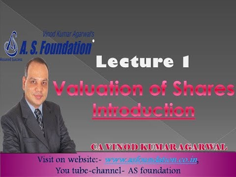 Lecture 1   Valuation of Shares   Introduction