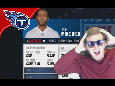 MICHAEL VICK SIGNS WITH THE TITANS! - Madden 17 Titans Connected Franchise #2