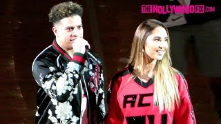 The ACE Family, Jake Paul & Chris Brown Arrive To The Basketball Game After A Special Video Montage Video