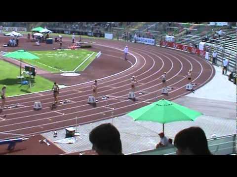 Deutsche Jugend-Meisterschaften  Ulm 2010 - 200m women Finale - Deutsche Meisterin Leena Günther