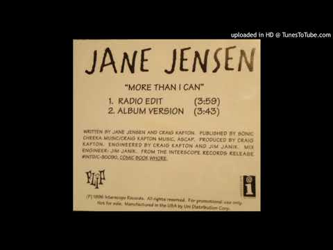 Jane Jensen - More Than I Can
