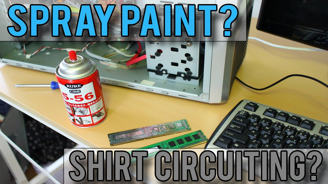 Spray Painting A Motherboard