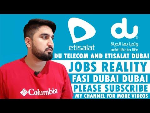 JOBS IN DUBAI | DU TELECOM AND ETISALAT DUBAI JOBS REALITY | DUBAI JOBS 📄📄