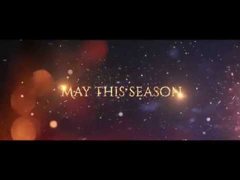 cinematic magical christmas new year greeting card after effects template