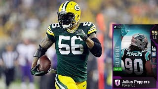 99 OVERALL JULIUS PEPPERS IS THE BEST USER IN THE GAME! MADDEN 19 ULTIMATE TEAM