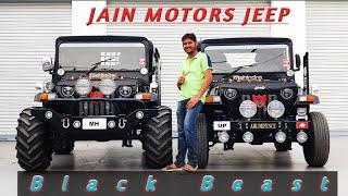 BLACK BEAST MODIFIED JEEPS READY FOR U.P & MAHARASHTRA..JAIN MOTORS @ 8199061161
