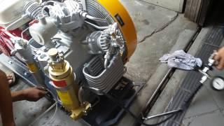 Cara menghidupkan mesin kompresor selam
