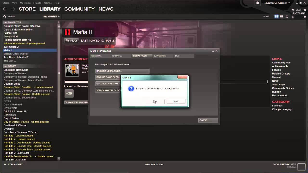 Validating steam files failed validate will reacquired vehicles