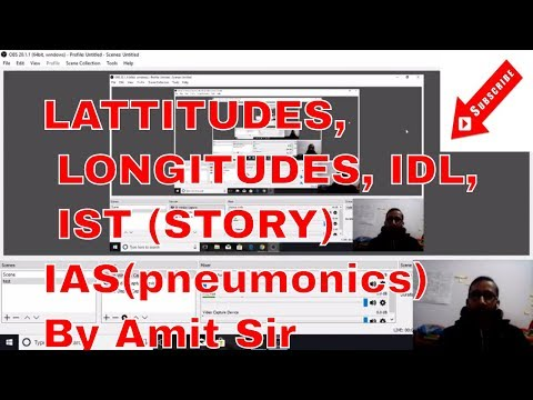 Longitude, Latitudes, Time Zones, International date line