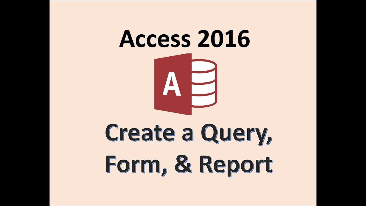 Access 2016 - Create a Query Form and Report - How To Make Queries Forms &  Reports - MOS Exam Lesson