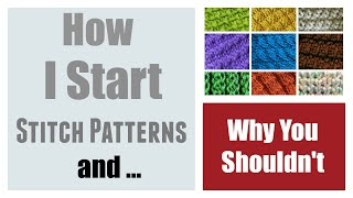 LOOM KNITTING : How I Start My Stitch Patterns | Loomahat