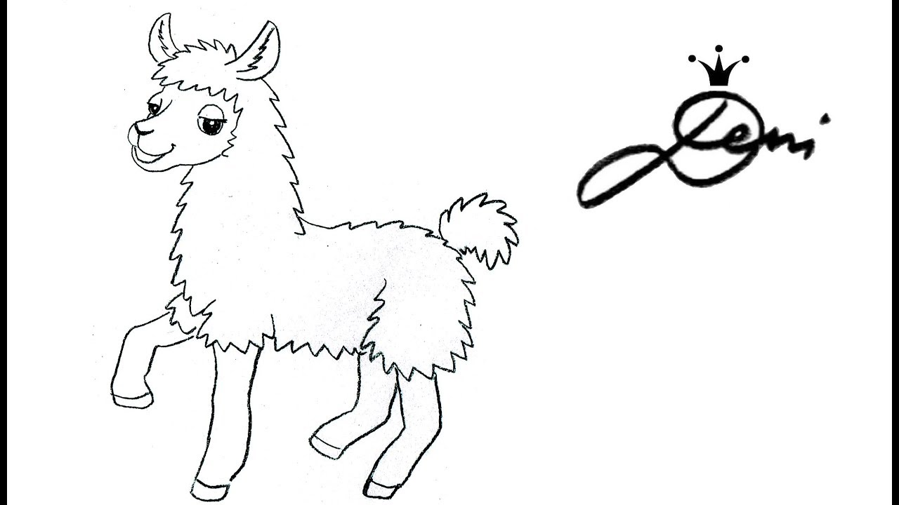 Lama Zeichnen Lernen Ganz Einfach Malen How To Draw A Llama Kак се рисува лама алпака