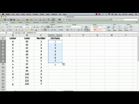 letter to number formulas in microsoft excel how to change a letter into a 23250 | hqdefault