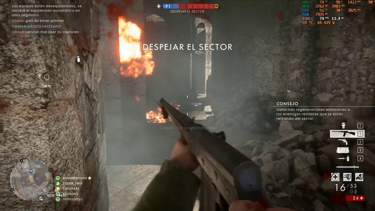 Battlefield 1 Xeon e5 2667V2 @3.8ghz 980TI
