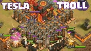 Clash Of Clans - TESLA OVERLOAD!!!! (Clashcon 2015 Troll War Continued)