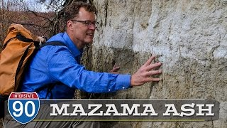 Mount Mazama Ash from Crater Lake volcano eruption 7,700 years ago