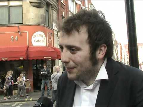Raphael Gualazzi, Italy 2011 - esctoday.com interview at the London Eurovision Party 17 April 2011