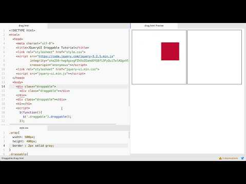 Jquery UI : [ Droppable ] Make Any HTML Element Droppable.