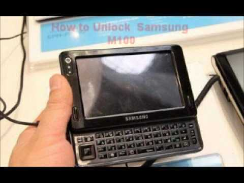 Samsung M100 Unlock Code - Free Instructions