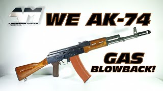 WE AK-74 GAS BLOWBACK / Airsoft Unboxing Review