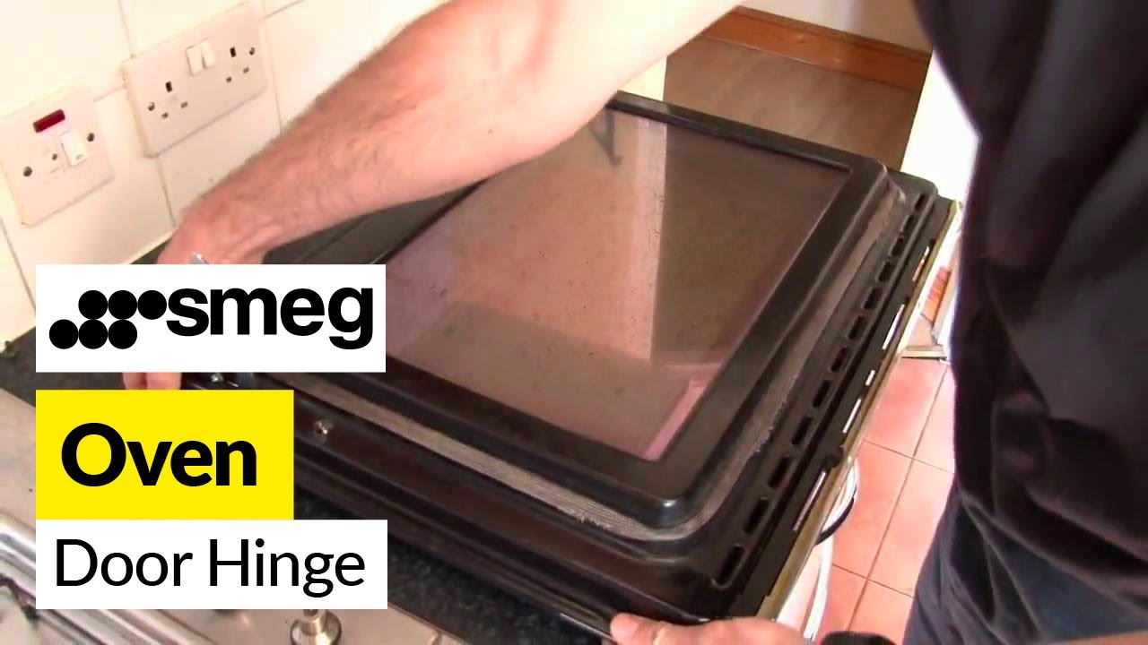 How to replace the oven door hinges on a Smeg cooker  YouTube