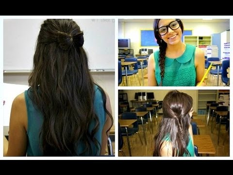 quick & unique school hairstyles