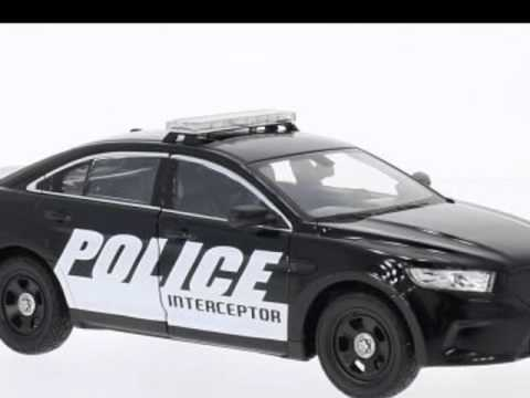 voiture de police jouet ford interceptor police model car ready made welly 1 24 youtube. Black Bedroom Furniture Sets. Home Design Ideas