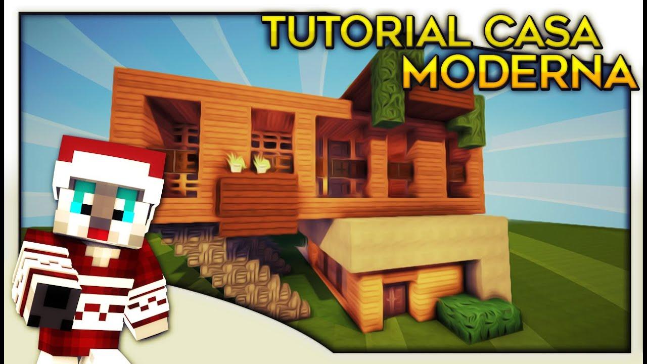 Minecraft tutorial de como hacer una casa moderna en for Hacer casas