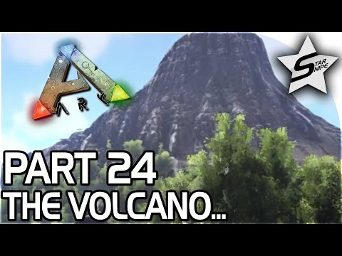 VOLCANIC Adventure, DOUBLE REX Encounter  - ARK Survival Evolved PS4 PRO Gameplay Part 24