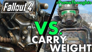 FALLOUT 4 FACEOFF! Power Armor Vs. Regular Armor and Carry Weight #PumaThoughts