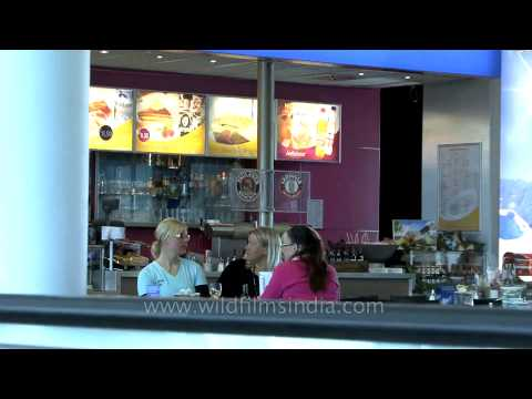 Duty free and coffee shop at Munich airport