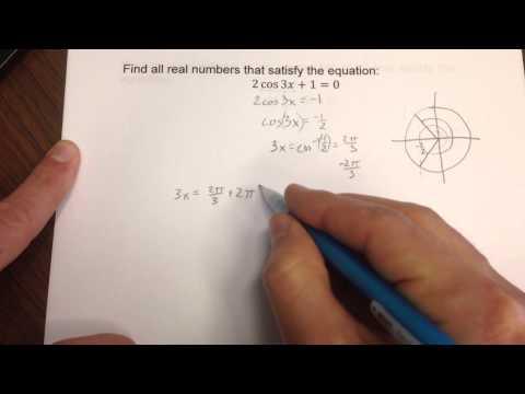 Solving a trig equation involving cos(3x)