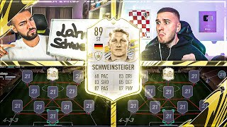 FIFA 21: Mr. OVERPOWERED SCHWEINSTEIGER ST ICON Squad Builder Battle 🔥🔥 IamTabak vs Wakez