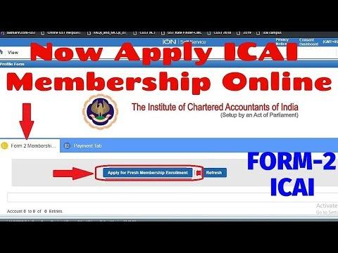 How To Apply ICAI Membership Online