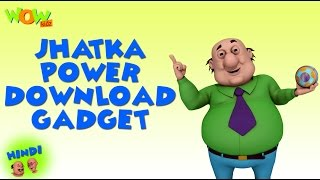 Jhatka Power Download Gadget - Motu Patlu in Hindi - 3D Animation Cartoon -As on Nickelodeon