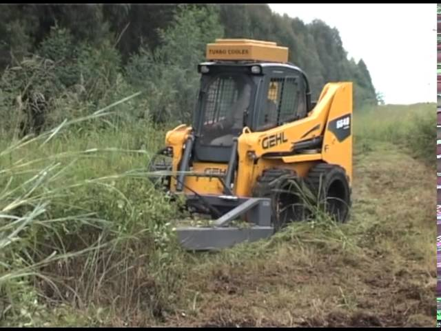 Gehl skid and track loaders in forestry applications