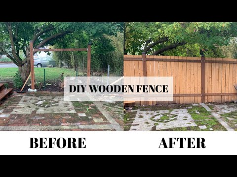 HOW TO BUILD A WOOD FENCE | SIMPLE & CHEAP | BEGINNER DIY