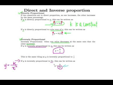 Singapore GCE 'O' Level Emath Ep.21: Review on Direct and Inverse Proportional